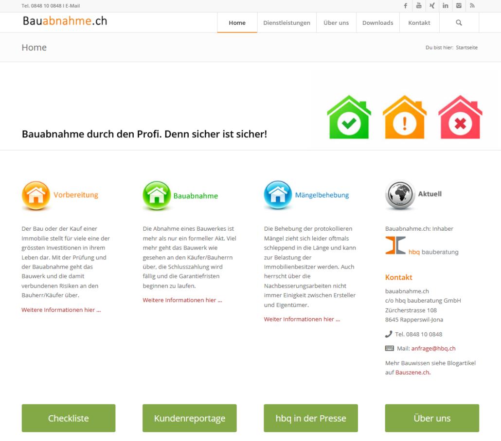 Bauabnahme.ch: Professioneller Bauabnahme-Experte