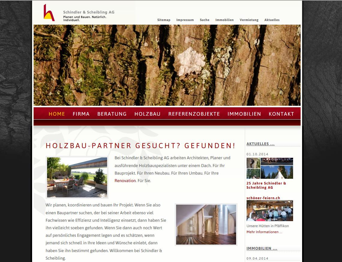 Der Spezialist für Holzbau im Raum Zürich: Schindler & Scheibling