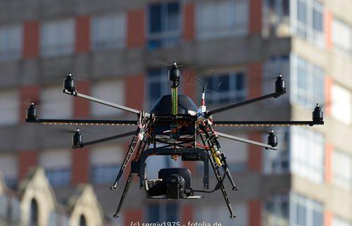 Luftaufnahme einer Drohne
