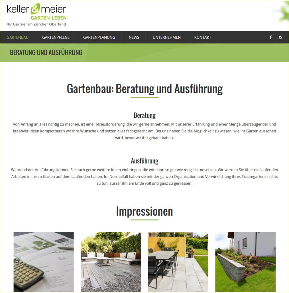 Keller Meier Gartenbau Zürcher Oberland