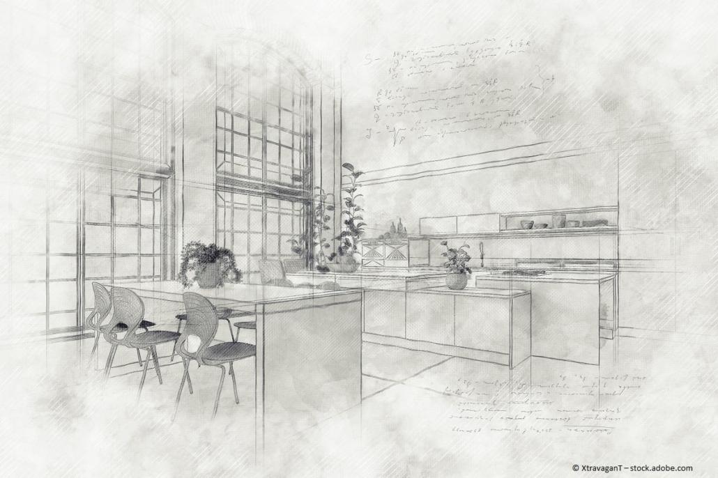 Ideen für den Küchenumbau möglichst skizzieren