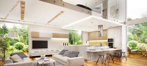 Moderne Küchen für Ess- und Wohnraum
