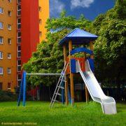 Bild zeigt einen Kinderspielplatz