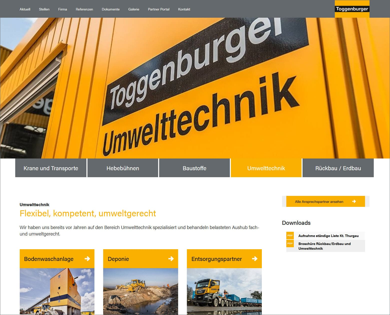 Toggenburger.ch: Umwelttechnik Flexibel, kompetent, umweltgerecht