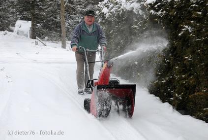 Winterdienst Schneeräumung